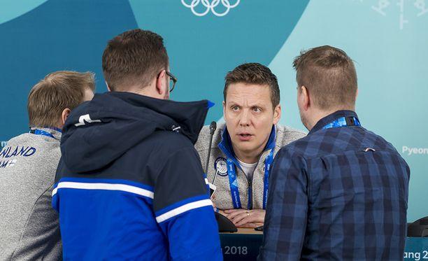 Lauri Marjamäki ei lähtenyt mukaan Expressenin journalismiolympialaisiin. Kuvassa suomalaistoimittajia.