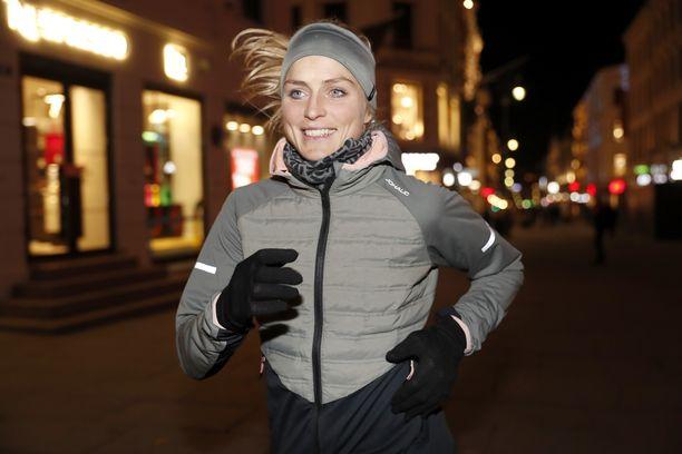 Juoksu on Therese Johaugille harjoitusmuoto.
