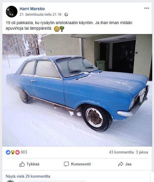 Facebookissa 21.1.2019 julkaisussa kuvassa Marstion Vauxhall Viva.