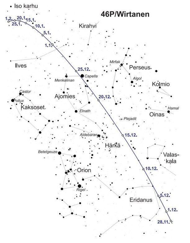 Havainnollistava tähtikarttakuva Wirtasen bongaamiseksi.