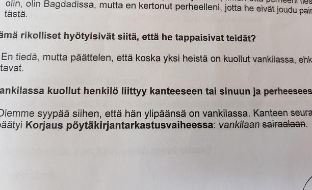 Tutkijat Sanna Valtonen ja Erna Bodström esittelivät useita esimerkkejä virheistä, joita esiintyy turvapaikkapäätöksissä. Kuvassa tulkkausvirhe.