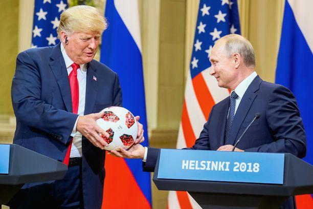 Trump ja Putin tapasivat viimeksi heinäkuun puolivälissä Helsingissä.