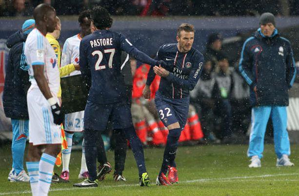 Tätä oli odotettu: David Beckham korvasi Javier Pastoren.