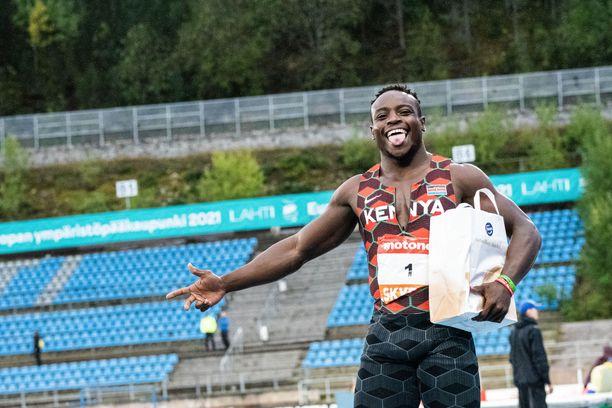 Ferdinand Omurwa voitti Lahden GP:n 100 metriä ajalla 10,09.