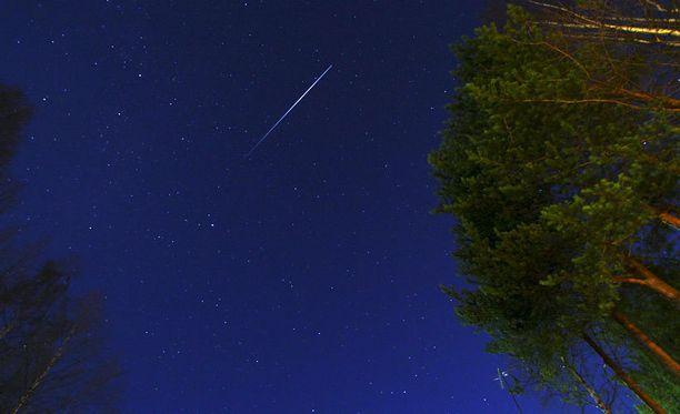 Tämä tähdenlento kuvattiin Kittilässä viime vuonna.