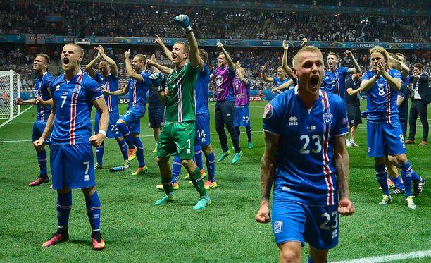 Islanti selviytyi Ranskan EM-kilpailuissa neljän parhaan joukkoon.