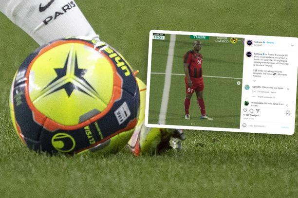 Ronnie Brunswijk hölkkäili 54 minuuttia omistamansa seuran riveissä tiistai-iltana Concacaf-liigan neljännesvälierissä.