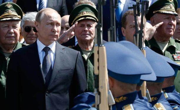 Venäjän presidentti Vladimir Putin osallistui sotilaan muistoseremoniaan Moskovassa kesäkuussa.