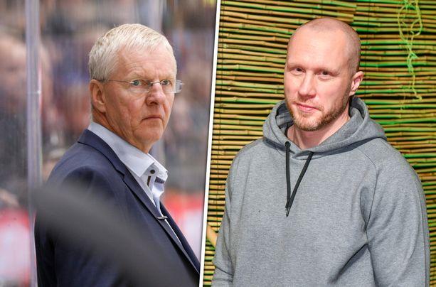Hannes Hyvönen (oikealla) kertoi Petopodissa, että Kari Jalonen oli hänen uransa paras valmentaja.