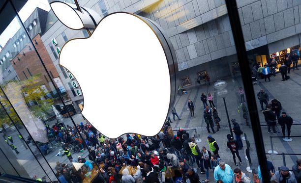 Applen kauppa Saksassa.