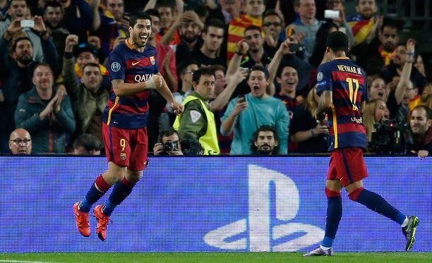 Luis Suárez ja Neymar ovat vastanneet Barcelonan kahdeksasta viimeisestä maalista.