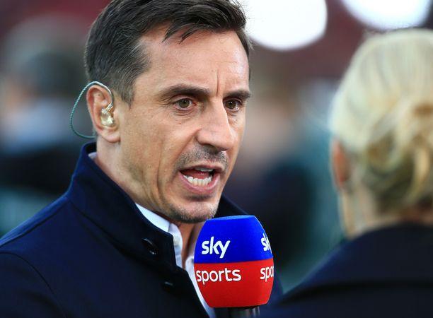 Gary Neville työskentelee asiantuntijana Sky Sportsilla.