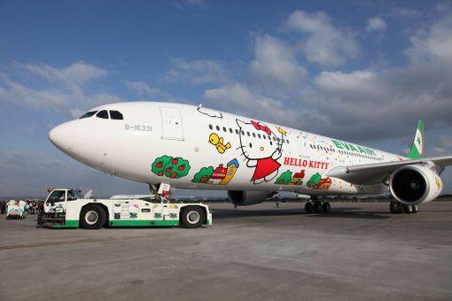 Hello Kitty -koneiden reittivalikoima laajeni viimeksi tänä keväänä.