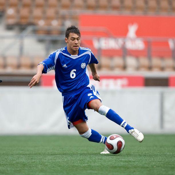 Daniel Fellman pelasi 21 poikien maaottelua. Kuva vuodelta 2008.
