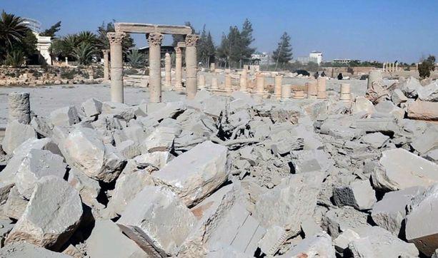 Tämä kivikasa on väitetysti se, mitä temppelistä jäi jäljelle.