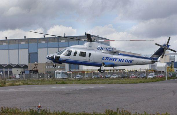 Copterline halusi vaihtaa onnettomuuden jälkeen helikopterin tyypin. Tässä lentää vielä Sikorsky.