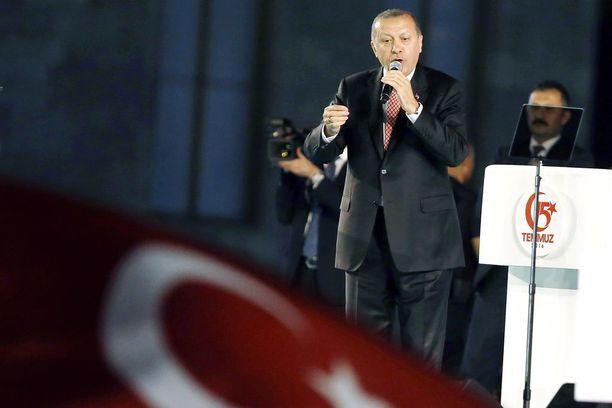 Erdogan voimisti presidentin valtaoikeuksia huhtikuussa pidetyssä kansanäänestyksessä.