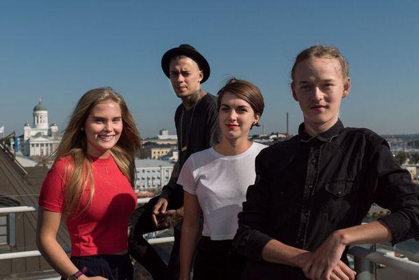 Mikael Gabriel, Nelly Hirst-Gee, Mimosa Willamo ja Santeri Helinheimo Mäntylä ovat Bodomin nuoret tähdet.