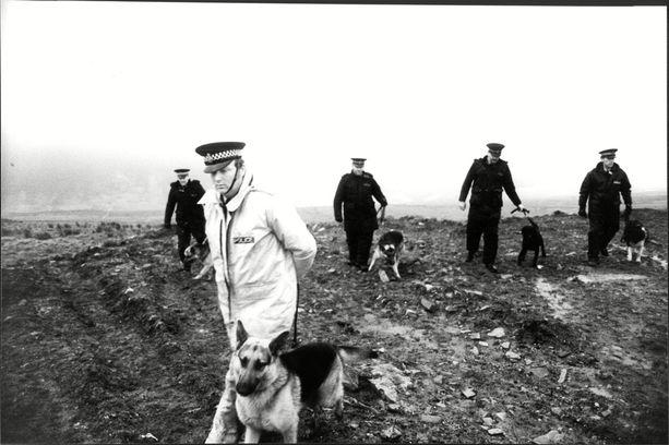 Ruumiita etsittiin 1960-luvulla Saddleworth Moorissa.