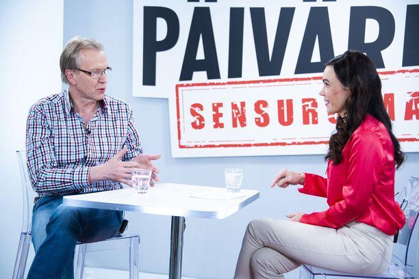 Kiminkinen Susanne Päivärinnan haastattelussa 13. maaliskuuta.