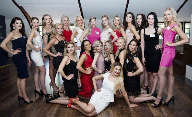 Näiden kaunotarten keskuudesta valitaan uusi Miss Suomi.
