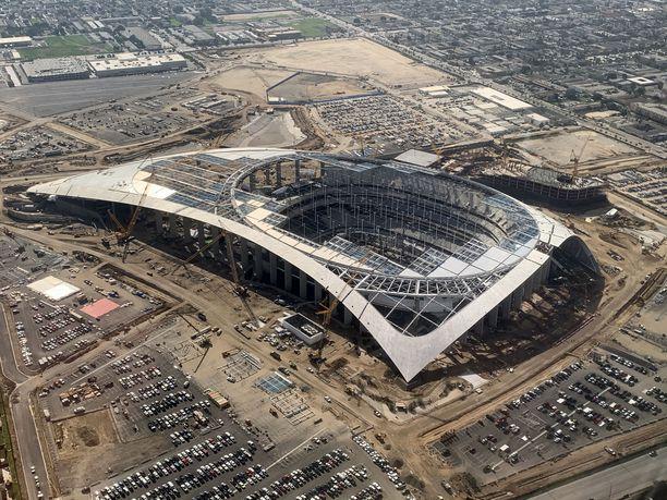 Tältä SoFi-stadion näytti tammikuussa.