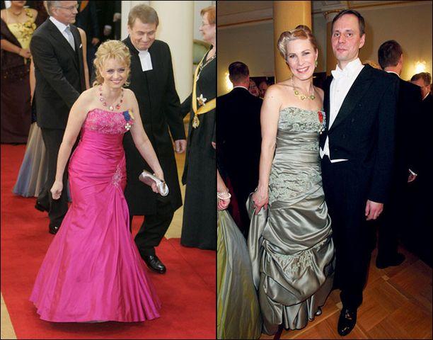 TYYLIÄ LÖYTYI. Päivi Räsäsen ja Marjo Matikaisen stailauksessa oli osansa Leena Koukkarilla.