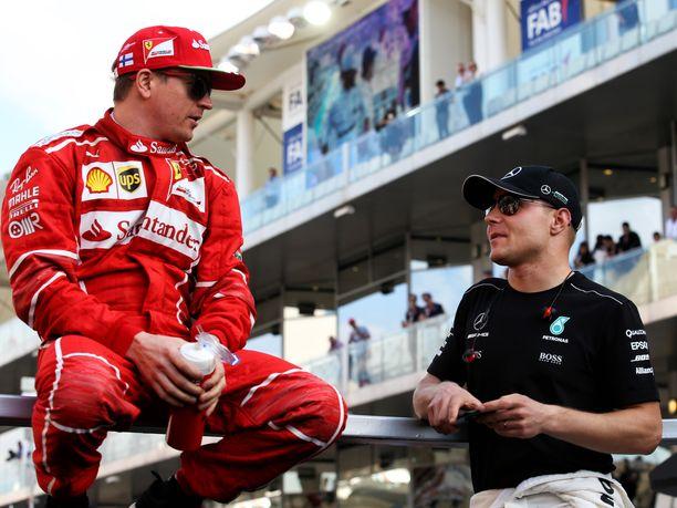 Kimi Räikkönen ja Valtteri Bottas ratkaisevat F1-kauden kahdessa viimeisessä osakilpailussa MM-sarjan kolmossijan kohtalon. Räikkönen on voittanut tällä kaudella yhden osakilpailun, Bottaksen voittotili on vielä avaamatta.