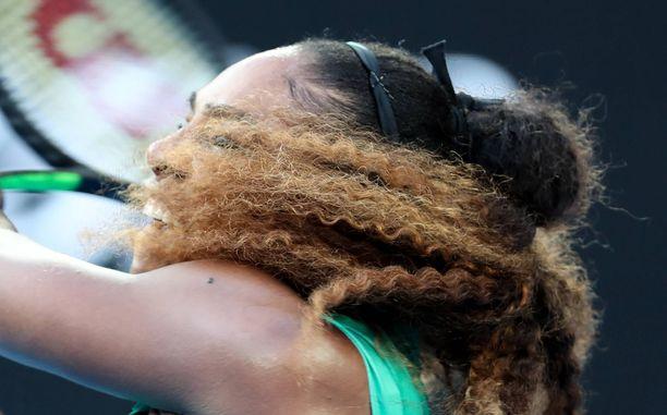 Serena Williams on iskussa.