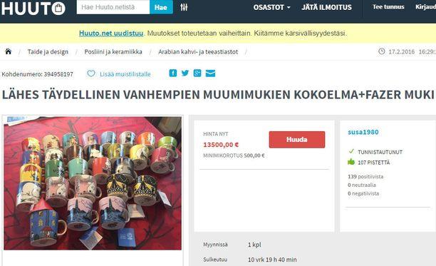 Muumimukipaketilla on hintaa nyt 13 500