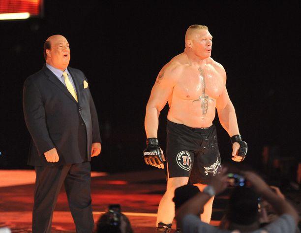 Näin järkälemäisessä kunnossa Brock Lesnar oli vielä vuonna 2016.