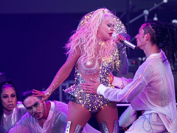 Christina Aguilera esiintyi viime vuoden Pori Jazzissa.