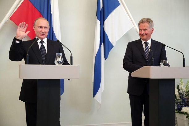 Vladimir Putin vieraili Suomessa edellisen kerran 27. heinäkuuta.