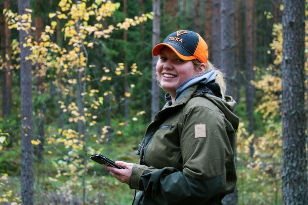 Henna Kurkala aloitti metsästyksen kahdeksanvuotiaana.