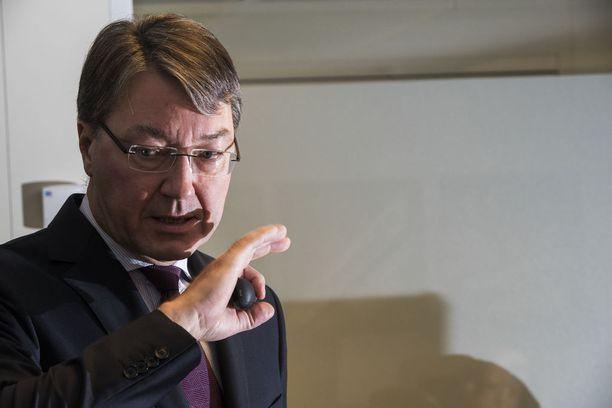 Solidiumin toimitusjohtaja Antti Mäkinen esitteli yhtiön puolivuotiskatsausta helmikuun alussa Helsingissä.