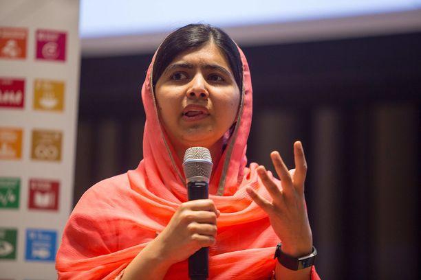 Malala Yousafzaista tehtiin tällä viikolla sekä Kanadan kunniakansalainen että YK:n rauhanlähettiläs. Kuva maanantailta New Yorkista.