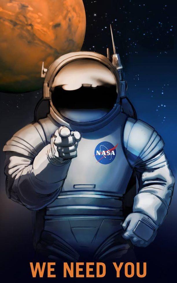 Nasa julkaisi kahdeksan kuvaa tulevaisuuden työntekijöistä, joita Mars-matkalla tarvitaan.