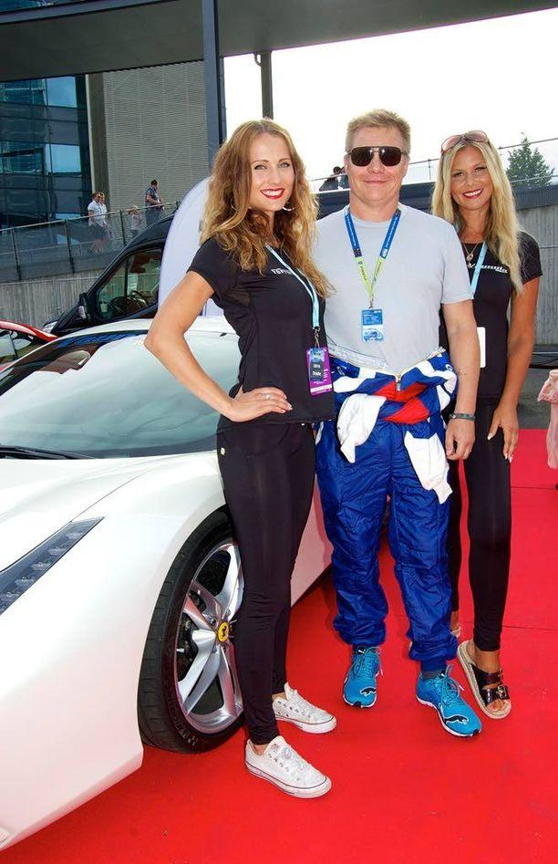 Mika Salolla oli Ferrarin näytösajokeikka Jyväskylän MM-rallissa.