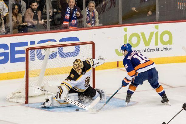 Tuukka Rask keräsi komeat tilastot voitto-ottelussa New York Islandersia vastaan.