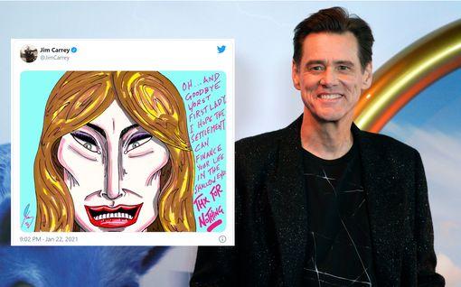 Jim Carrey piirsi pilakuvan Melania Trumpista – somessa leimahti kiivas väittely