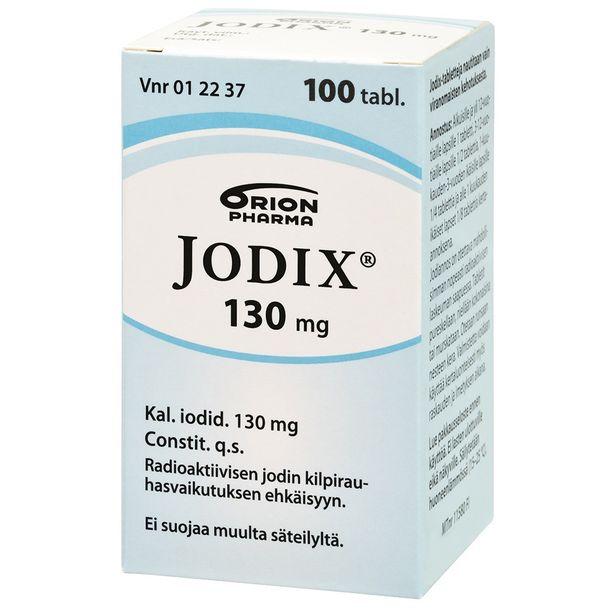 Jodi suojaa kilpirauhasta säteilyltä esimerkiksi vakavan ydinlaitosonnettomuuden sattuessa. Tabletteja otetaan vain viranomaisen kehotuksesta.