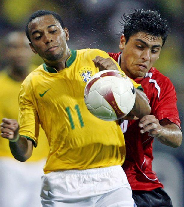 Chile oli koko ajan askeleen Brasiliaa jäljessä.