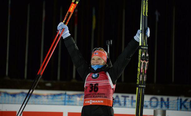 Kaisa Mäkäräinen nappasi pronssia Kontiolahden MM-kisojen normaalimatkalla.