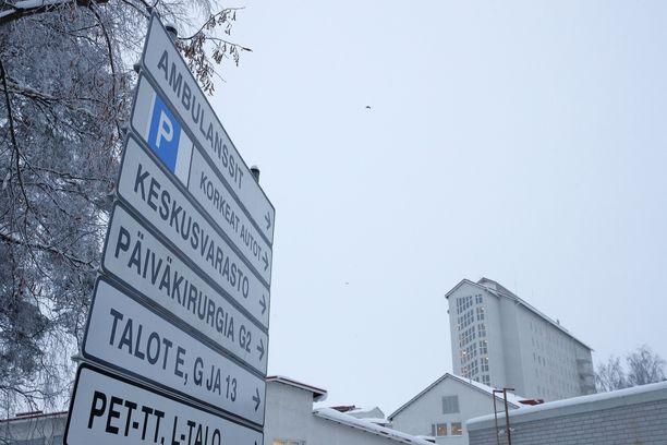 Tautiepäily tuli ilmi Pohjois-Karjalassa. Kuvituskuva keskussairaalasta.