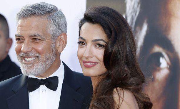 Yhdysvaltalaisnäyttelijä George Clooney ja hänen vaimonsa Amal Clooney AFI:n palkintogaalassa Dolby-teatterissa 7.6.2018.