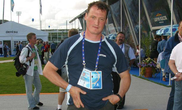 Kimmo Kinnunen heitti ennätyksensä vuoden 1999 Kalevan kisoissa.