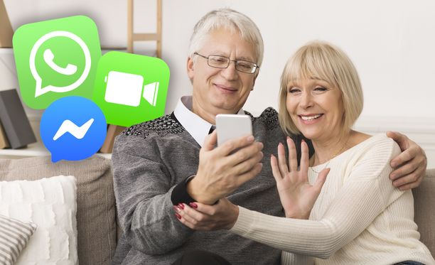 Sukulaisiin voi pitää yhteyttä kätevästi viestisovelluksilla.
