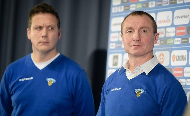 Leijonien päävalmentaja Lauri Marjamäki ja GM Jere Lehtinen lensivät torstaina Denveriin.