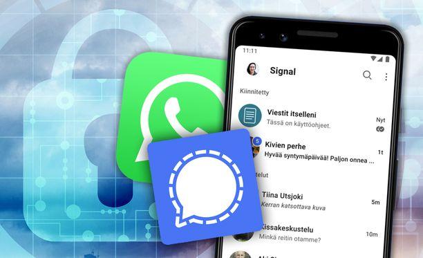 Signal on Whatsappin kaltainen pikaviestipalvelu.