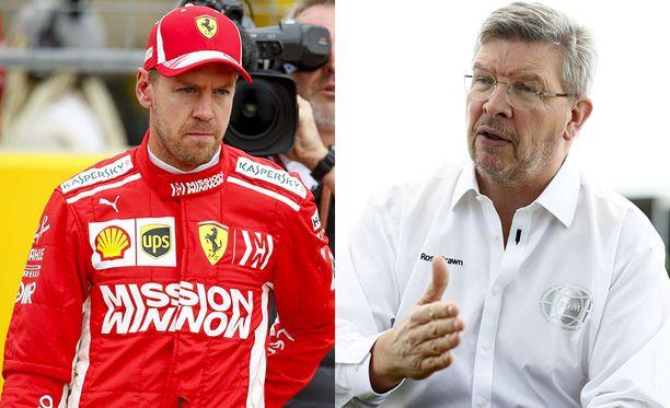 Sebstian Vettel (kuvassa) on 70 pistettä Lewis Hamiltonia perässä MM-pisteissä, kun kisoja on enää kolme jäljellä. F1-pomo Ross Brawn sanoo, että Ferrari rakensi täksi kaudeksi loistavan auton, jolla olisi voinut voittaa mestaruuden.